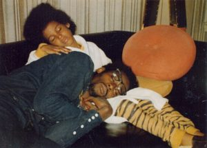 David Ruffin with his son David Ruffin Jr.