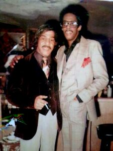 Len Merritt Sr. and David Ruffin of The Temptations at Len's 47th Birthday Party.