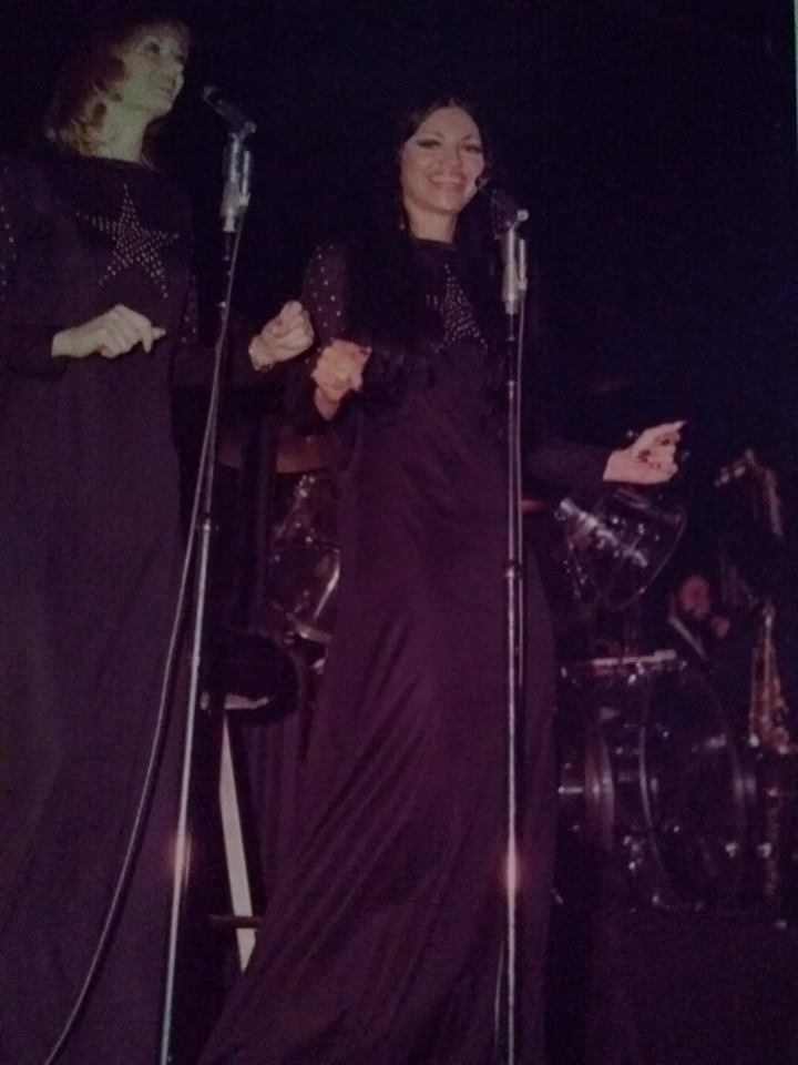 Juanita on stage in Las Vegas