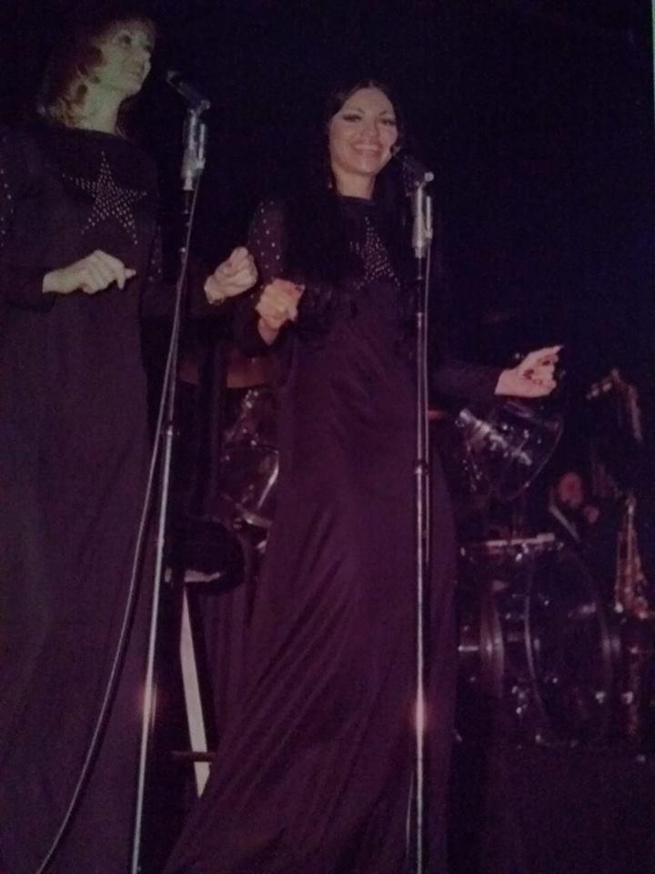 Juanita on stage in Las Vegas